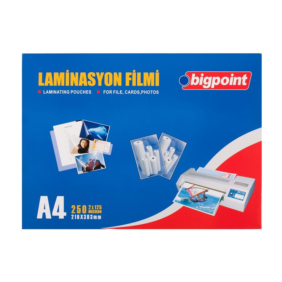 Bigpoint Laminasyon Filmi A4 125 Mikron 100'lü