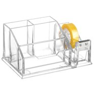 Acrylic Pen Stand Clear with Tape Dispencer