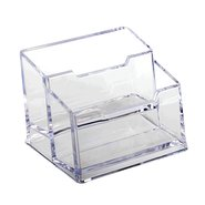 Acrylic Businesscard Holder 2 Tier Clear