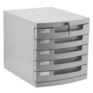 Locking File Cabinet with Five Shelves