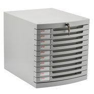 Locking File Cabinet with Ten Shelves