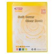 Soft Cover Clear Book 10 Clear Pages Yellow
