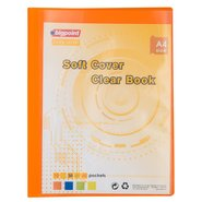 Soft Cover Clear Book 20 Clear Pages Orange