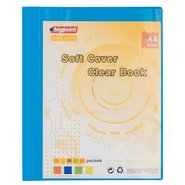 Soft Cover Clear Book 40 Clear Pages Blue