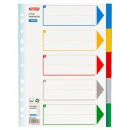PP 11 Holes Subject Dividers 5-Tab (Colours)