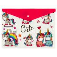 PP Printing Envelope Bag A4 Unicorn