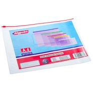 A4 Document Bag with Zip Closure Red