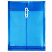Envelope Bag with Bellow & String / Blue