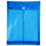Envelope with Bellow & Velcro / Blue