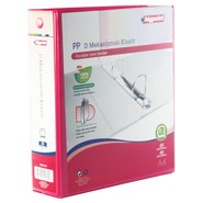 PP+Paperboard D-2 Ring View Binder 7cm Red