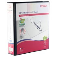 PP+Paperboard D-2 Ring View Binder 7cm Black
