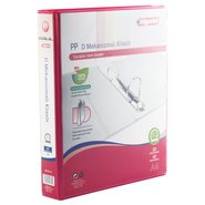 PP+Paperboard D-4 Ring View Binder 5cm Red