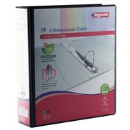 PP+Paperboard D-4 Ring View Binder 7cm Black