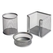 Mesh Stationery Set of 3 Pcs Silver
