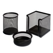Mesh Stationery Set of 3 Pcs Black