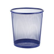 Mesh Trash Can Middle Blue