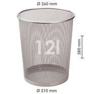 Mesh Trash Can Silver