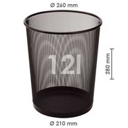 Mesh Trash Can Black