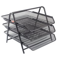 Mesh Three Tiered File Tray Black