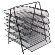 Mesh Five Tiered File Tray Black