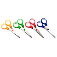 Double Coloured School Scissor with Ruler