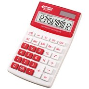 Desktop Electronic Calculator 12 Digits Red