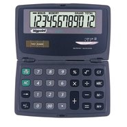 Hand-Held Electronic Calculator 12 Digits Dual Leaf