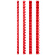 Comb Binding Rings 8mm Red (100Pcs/Box)