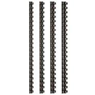 Comb Binding Rings 12mm Black (100Pcs/Box)