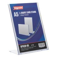 L Shape Card Stand Vertical A5