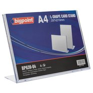 L Shape Card Stand Horizontal A4