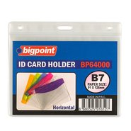 Id Card Holder 91x128mm Horizontal Clear