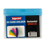 ID Card Holder Hor. with Blue Header 85x55mm