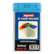 ID Card Holder Ver. with Blue Header 55x85mm