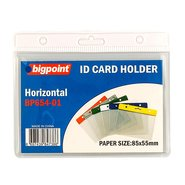 ID Card Holder Hor. with White Header 85x55mm