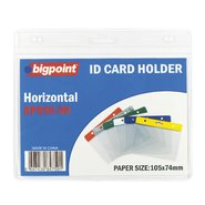 ID Card Holder Horizontal Clear 105x74mm