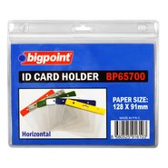 ID Card Holder Horizontal Clear 128x91mm