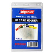 ID Card Holder Vertical Clear 91x128mm