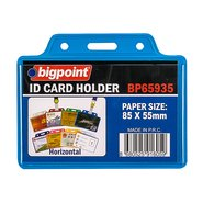 ID Card Holder Horizontal Blue 85x55mm