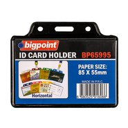 ID Card Holder Horizontal Black 85x55mm