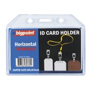 ID Card Holder Soft Horizontal Clear 85x54mm