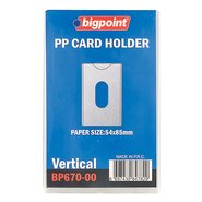 PP ID Card Holder Soft Vertical Clear 54x86mm