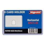 ID Card Holder Thin Pp Clr 90x53mm