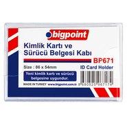 PVC ID Card Holder Soft Horizontal Clear 86x54mm