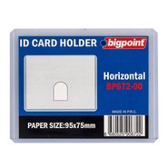 ID Card Holder PP Clear 95x75mm