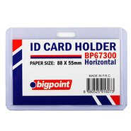 ID Card Holder Horizontal 88x55mm Clear