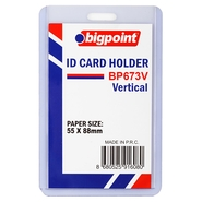 ID Card Holder Vertical Clear 55x88mm