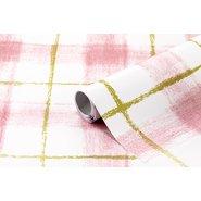 PVC Self Adhesive Roll 2m Plaid No:76