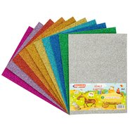 Glitter Cardboard Paper A4 (Mix 10 Assorted)