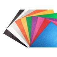 Glitter Cardboard Paper 50x70cm (Mix 10 Arroted)